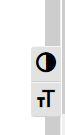 Zwei Felder mit jeweils einem Symbol.