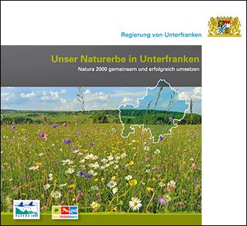 Titelblatt des Heftes: Unser Naturerbe in Unterfranken.