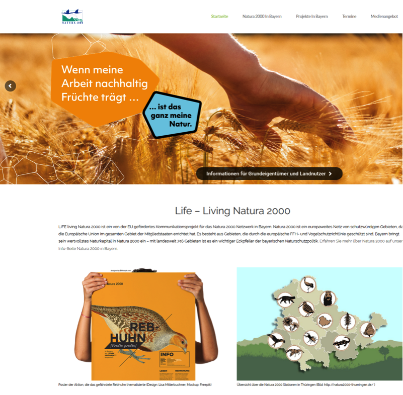 Startseite Life - Living Natura 2000.