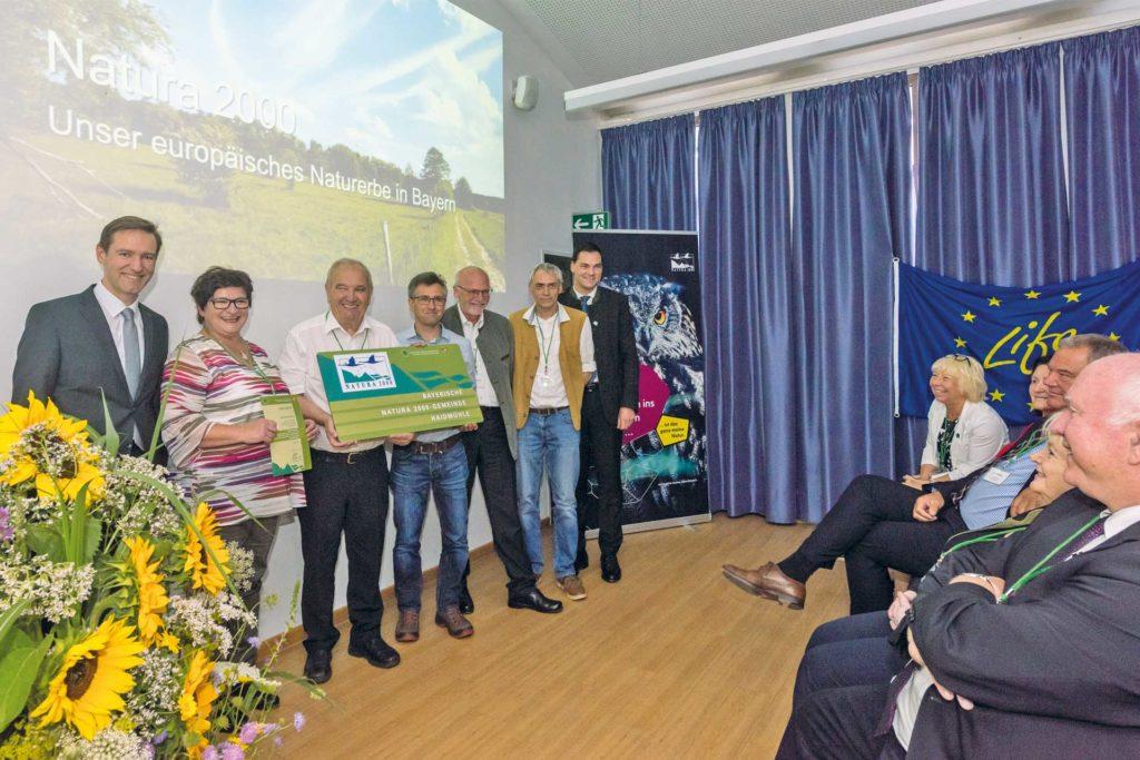 Auszeichnung der Natura 2000 Gemeinde Haidmühle