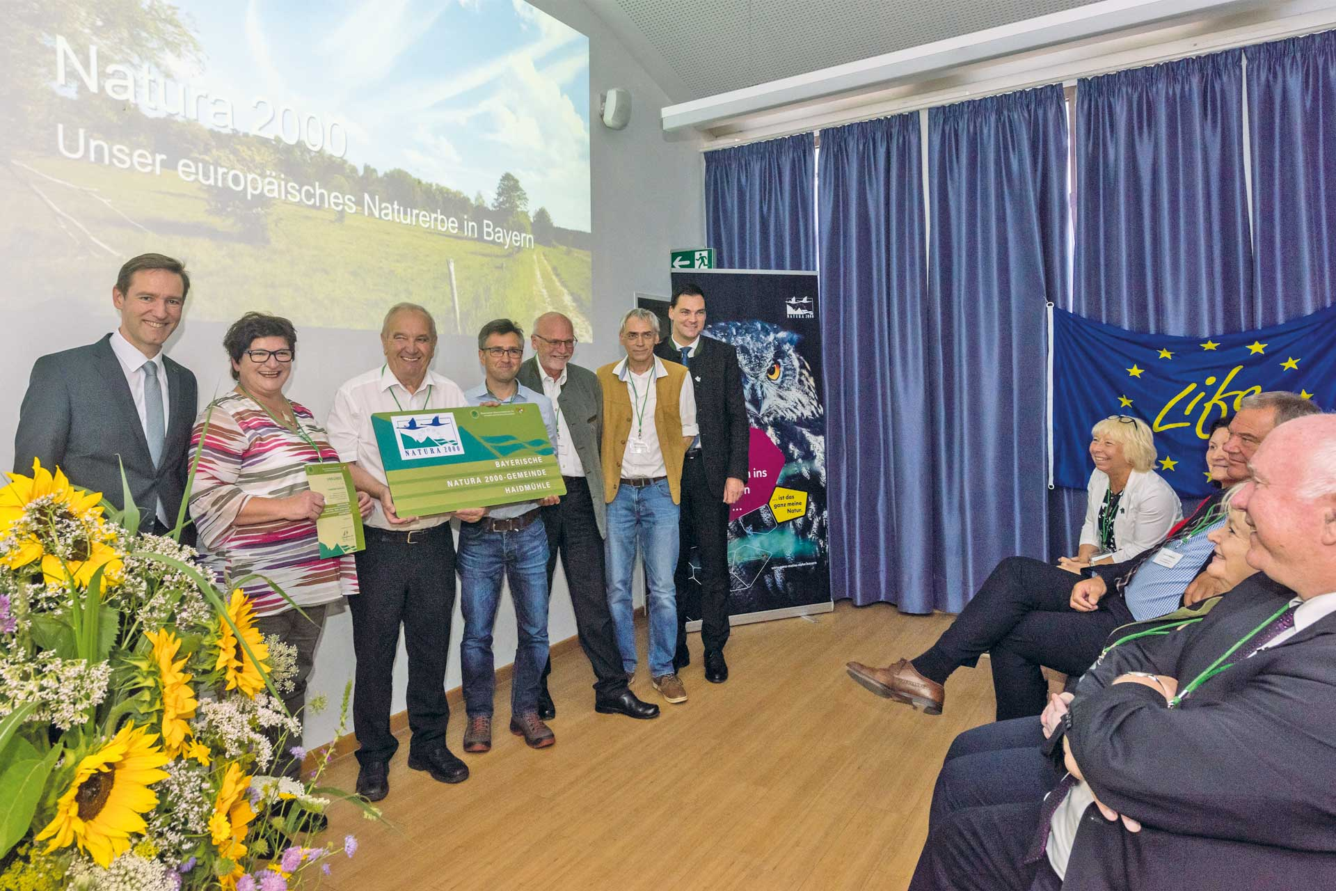 Presentation of the Award for the Natura 2000 town Handmühle.
