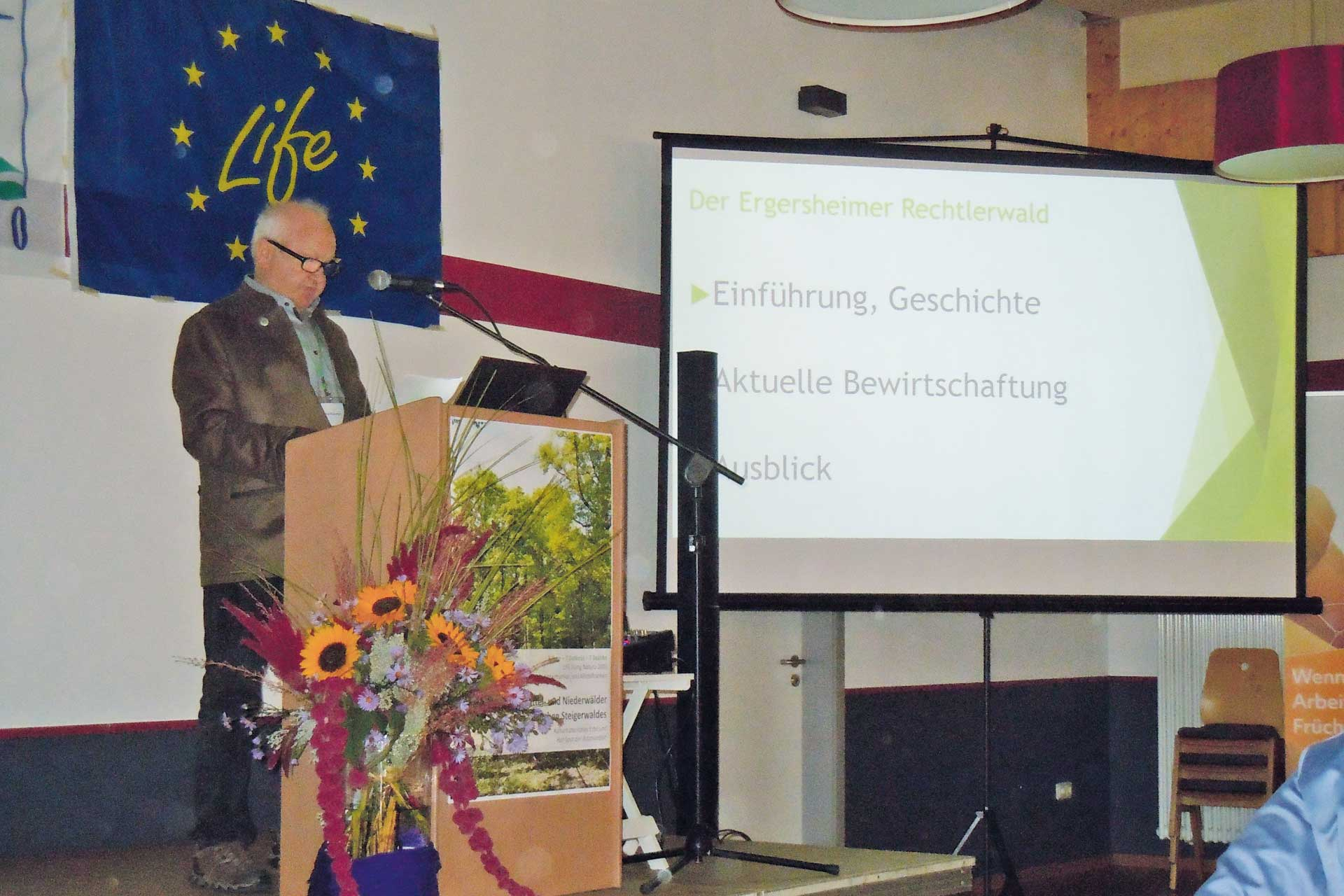 Speech at the event of the districts of Lower and Middle Franconia. Bildautor: ANL.