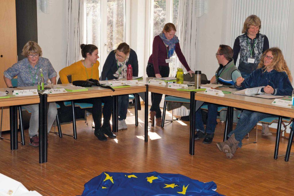 Intensiver Austausch der Tagungsteilnehmerinnen und Tagungsteilnehmer Foto: Florian Wetzel/ANL