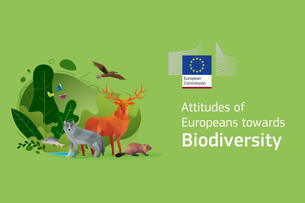 Grafik zum Bericht Biodiversity mit dem Einbezug der Einstellung von Europäern dazu im Titel.