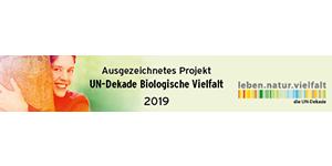 Logo: Ausgezeichnetes Projekt UN-Dekade Biologische Vielfalt 2019
