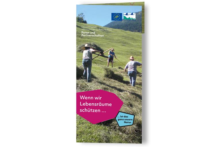 Flyer zum Thema Natura 2000-Paten und Patenschaften.
