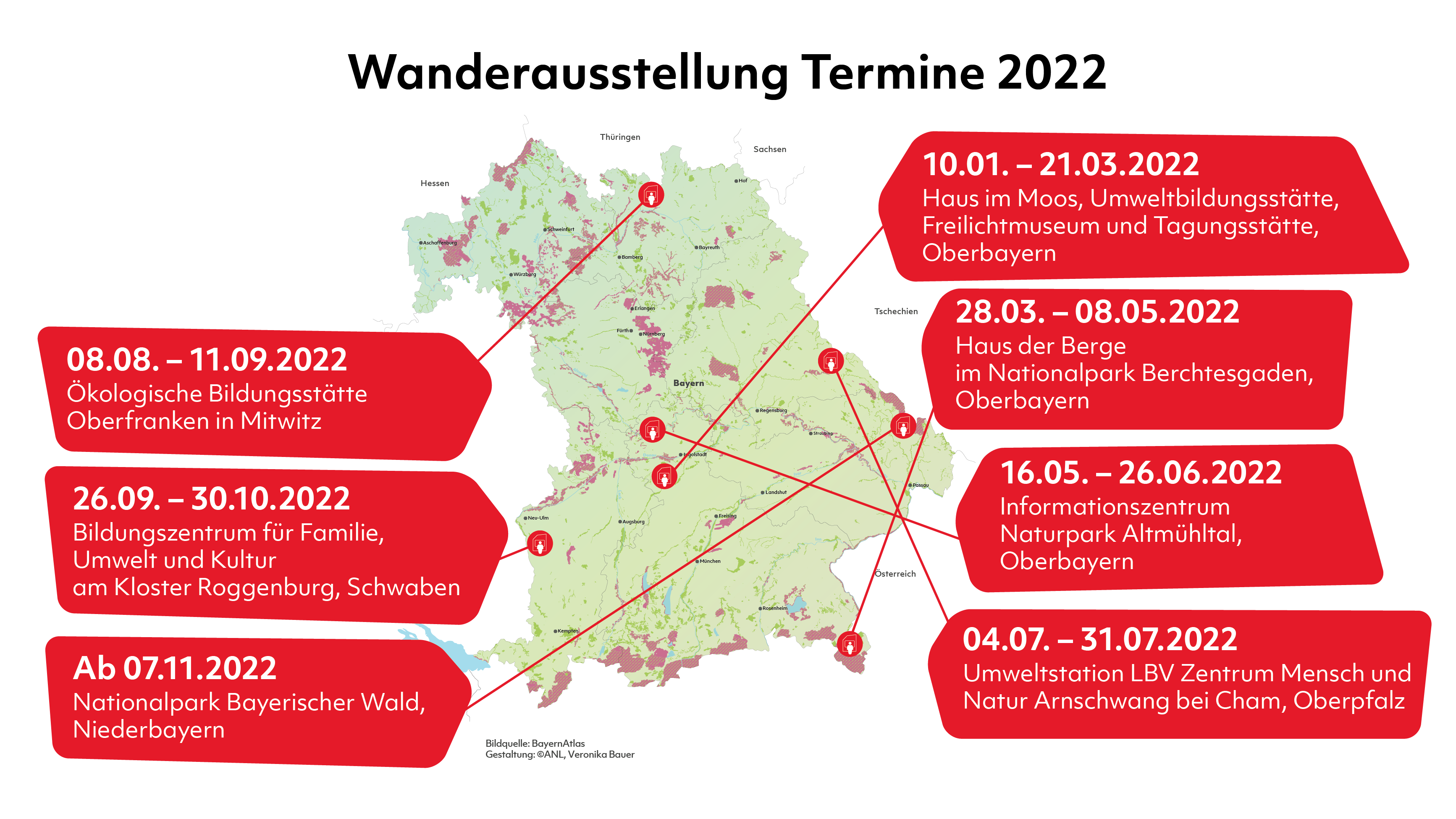 Kalender Ausstellungstermine 2022