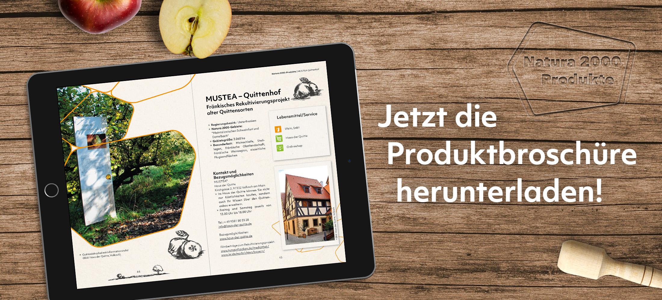 Bewerbung der Webversion Natura 2000-Produktbroschüre