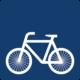 Ein Piktogramm eines Fahrrads.