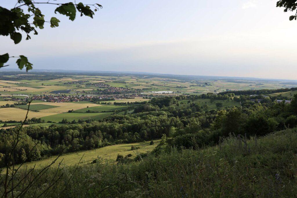 Aussicht vom Hesselberg in Mittelfranken.