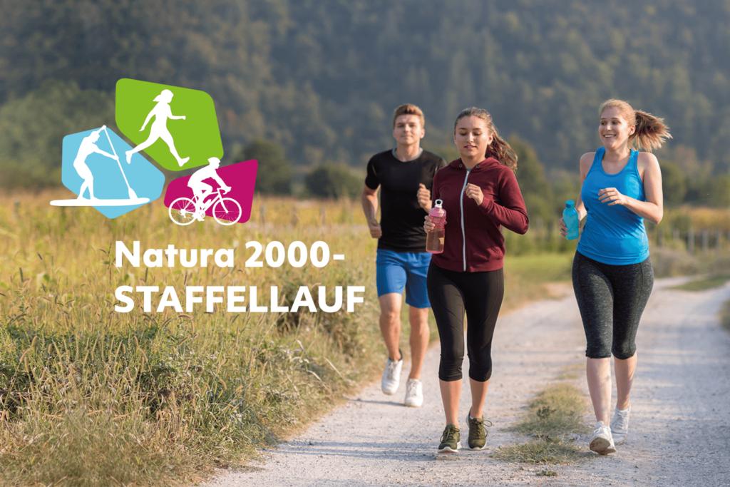 LäuferInnen unterwegs in der Natur.